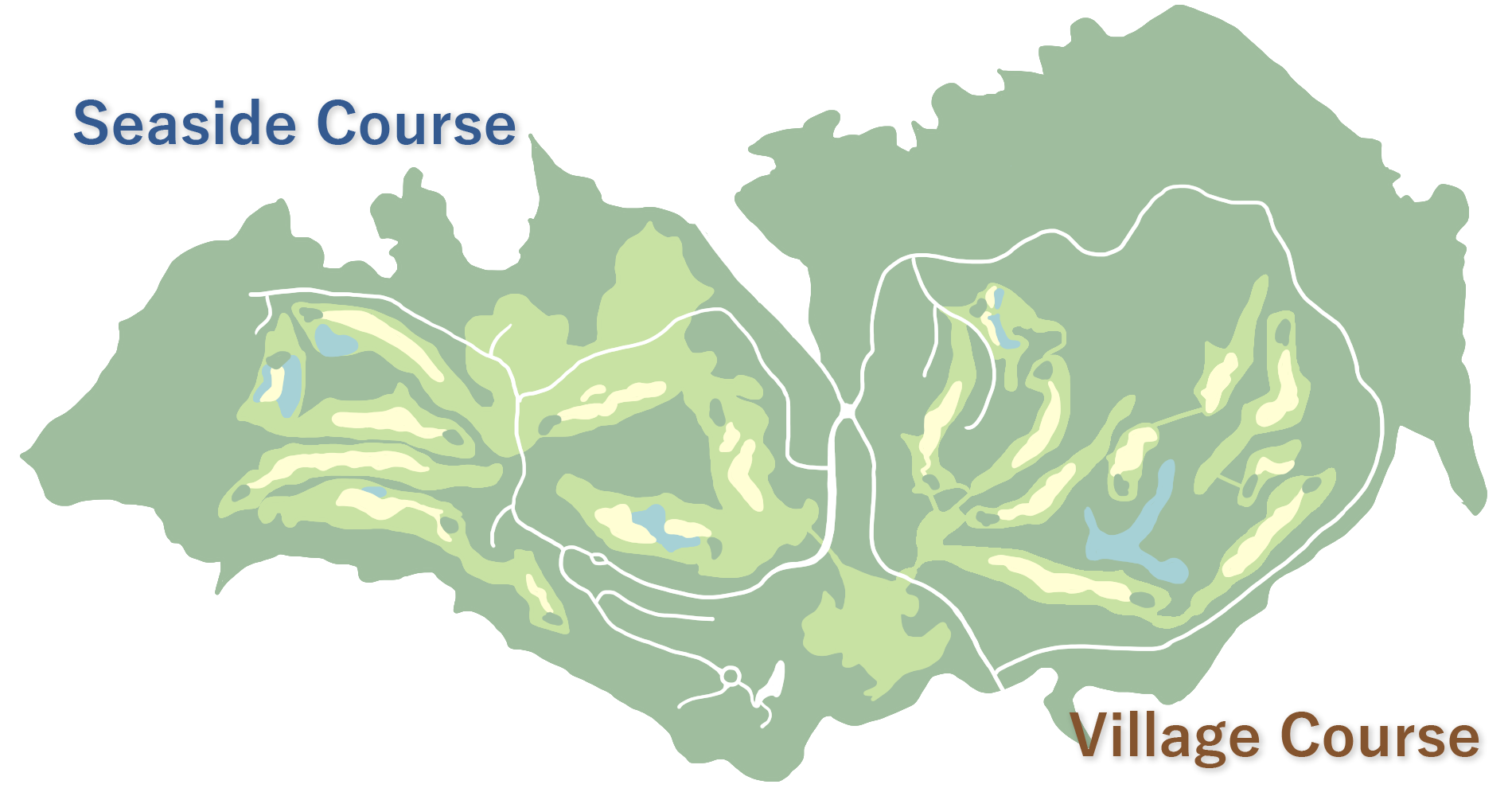 ゴルフコース地図
